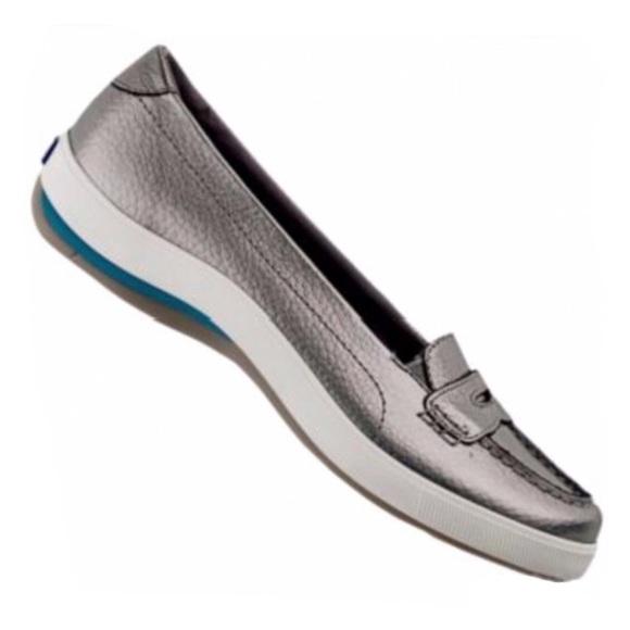 KEDS   Harborside Penny Loafers Metallic Silver 6